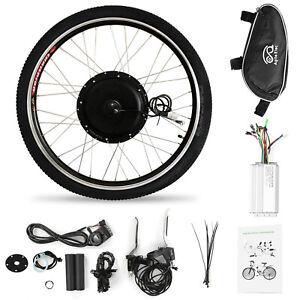"36V 500W Electric Bicycle Motor Conversion Kit E Bike Front 26"" Wheel Hub L0Q1"