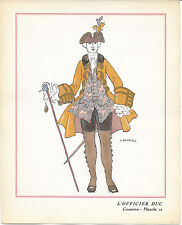 George BARBIER Officier Casanova de Rostand 1921 Ed. Vogel POCHOIR ORIGINAL RARE