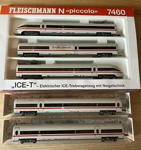 Spur N Fleischmann piccolo ICE-T SET, 7460 + 7461,7464, DCC Dig. (ESU Lokpilot5)