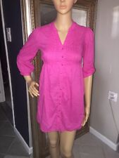 H&M Cotton Dress Beach Cover-Up Size 4 Color Pink