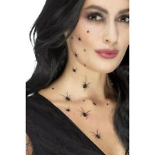 Crawling Spider Tattoo Transfers Ladies Hallowen Fancy Dress Make Up