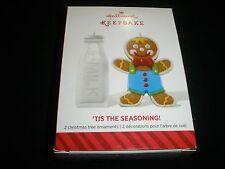 "NIB! 2014 HALLMARK CHRISTMAS ORNAMEN, SET OF 2 ~""TIS THE SEASONING!""~ #1~ T1044"
