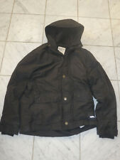 ABERCROMBIE & FITCH HOODED BLACK LARGE L BLACK WINTER RAIN JACKET SNOW