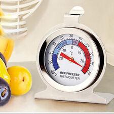 Steel Refrigerator Freezer Thermometer Fridge Refrigeration Temperature Gauge