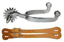 Mens Western Spurs Jinglebob Spurs with leather spur straps !! NEW HORSE TACK!!