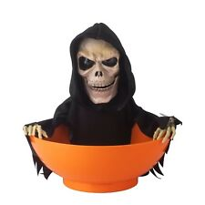 Candy Bowl Grim Reaper Animated Halloween Treat Holder Home Party Decoration