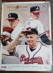 Atlanta Braves HOF Class Of 2014 Tom Glavine, Greg Maddux, Bobby Cox. Poster