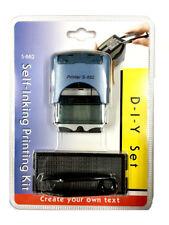 DIY Self Inking Rubber Stamp Kit Customised Business Name Address
