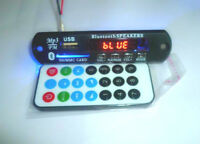 12V Car Bluetooth MP3 WMA Decoder Board Wireless Audio Module USB TF Radio