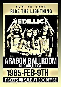 Metallica 1985 Concert Poster Wall Art Unframed Vintage  Picture Repro Metal