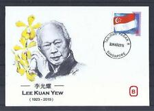 LEE KUAN YEW FIRST DEATH ANNIVERSARY ON SINGAPORE POSTAL COVER (NW300)