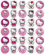 30x Hello Kitty Cupcake Toppers Edible Wafer Paper Fairy Cake Toppers