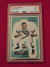 1955 Len Ford Cleveland Browns Bowman Football Card #14 Graded PSA 5.5 EX+