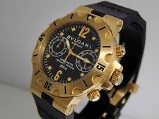 BVLGARI Diagono Scuba Cronografo SC 38 G Diver 18k GOLD 38mm $25,000 lnib