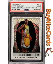 2006 Kevin Durant Topps Finest White Xfractor Refractor XRC RC Rookie 1/1 PSA 9
