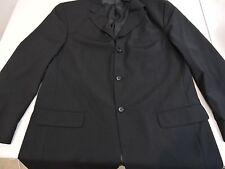 Piacci Uomo 100% Super Wool Black 3 Button Lined Blazer - Size - 44R