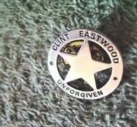 CLINT EASTWOOD 1992 UNFORGIVEN PREMIERE STAR PIN