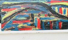 1960s BRITISH ABSTRACT OIL PAINTING STUDY ON BOARD  signed Epstein ??