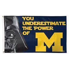 Michigan Wolverines NCAA Star Wars Darth Vader Banner Flag Wincraft 159229