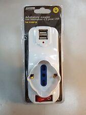 TRIPLA 3 PRESE + 2 PRESE USB SPINA 16A ROTANTE GBC 22055720