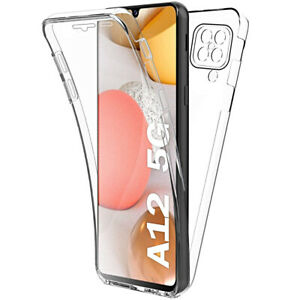 Cover For Samsung Galaxy A12 Case Front Retro 360° Silicone Protection Full