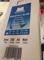 Lot Revendeur Destockage Palette Solderie De 200 Baguettes À Relier A4 Noir
