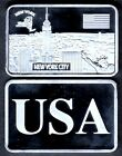 ★★★★★ JOLI LINGOT PLAQUE ARGENT ● USA ● NEW YORK ★★★★★★