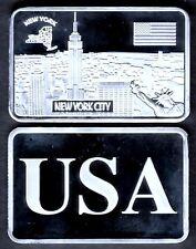 ★★★ JOLI LINGOT PLAQUE ARGENT ● USA ● NEW YORK ★★★★