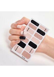 3D 14pcs Nail Stickers sheet Glitter Gradient  Nail Wraps Nail ArtDeco Self Adhe