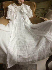 ~Exquisite Antique/Victorian Long Baby Christening/Night Gown~