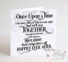 ONCE UPON A TIME Husband Wife Girlfriend Boyfriend Anniversary Valentines Card