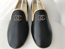 c64ace6d51c CHANEL CC Logo Beige and White Leather Loafers Moccasins Shoes 35