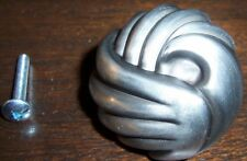 Set Of Kitchen Cabinet Knobs - Betsy Fields Design - Pewter Color Metal - 16 pcs