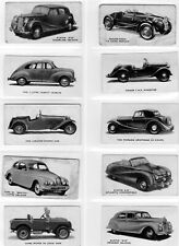 More details for kelloggs motor cars set 40 black & white 1949 trade cards
