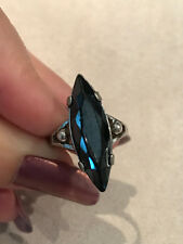 Hematite Marquis Sterling Silver Ring Size 6 1/4