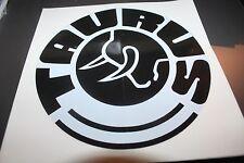 """Taurus Decal / Sticker - Black / White - 8"""""""