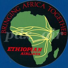 ETHIOPIAN AIRLINES BRINGING AFRICA TOGETHER 4' INCHES ROUND STICKER