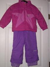 Obermeyer Girls toddler childs 2 pc set snow bib PANTS hooded JACKET 3 winter