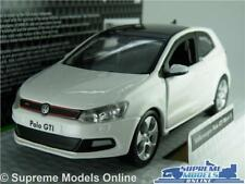 VW VOLKSWAGEN POLO GTI MK5 MODEL CAR 1:32 SCALE WHITE SPORTS MARK BURAGO K8