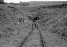 PHOTO  THE TONMAWR END OF GYFYLCHI TUNNEL SHOWING THE LANDSLIP ON 29TH MAY 1954