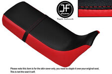 RED & BLACK VINYL CUSTOM FITS HONDA XRV 650 AFRICA TWIN RD03 DUAL SEAT COVER