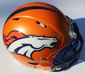 Denver Broncos Custom Speed Blaze Football Helmet QB Decals Used John Elway