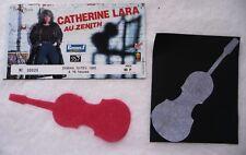 "ANCIEN BILLET DE CONCERT ""CATHERINE LARA"" PARIS / 1985 / USED TICKET PLACE"