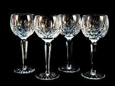 4 Waterford Crystal Lismore Hock Wine Glasses Mint!