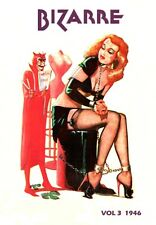 VINTAGE 1940'S BIZARRE FETISH  MAGAZINE VOLUME 3 COVER ART A3 POSTER RE PRINT
