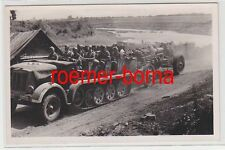 74248 Ak Schwere mot. Artillerie auf dem Vormarsch Russland 1941