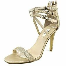 Strappy Medium Width (B, M) Synthetic Solid Heels for Women