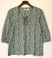 NEW EX SEASALT TREREIFE UK SIZE 8 10 12 14 FLORAL PRINT COTTON JERSEY BLOUSE TOP