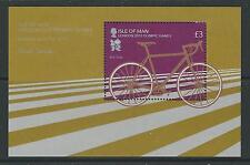 ISLE OF MAN 2012 LONDON OLYMPICS MINISHEET CYCLING UNMOUNTED MINT, MNH.