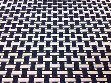 Link OUTDOOR Reversible Geometric Upholstery Fabric-Apple Basket/Cobalt- 2.25 yd